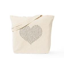 Verb Heart Tote Bag