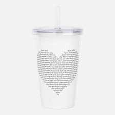 Verb Heart Acrylic Double-wall Tumbler