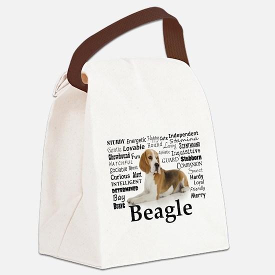 Beagle Traits Canvas Lunch Bag