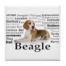 Beagle Traits Tile Coaster