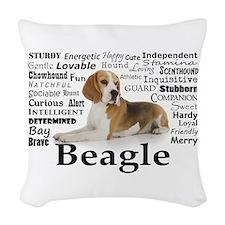Beagle Traits Woven Throw Pillow