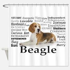 Beagle Traits Shower Curtain