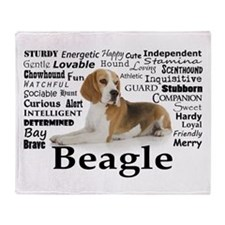 Beagle Traits Throw Blanket