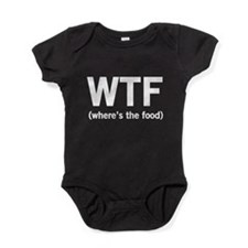 WTF where's the food Baby Bodysuit
