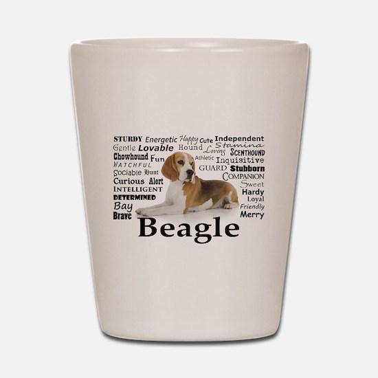 Beagle Traits Shot Glass