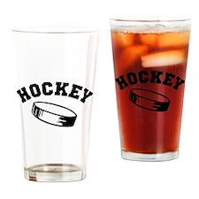 Hockey puck Drinking Glass