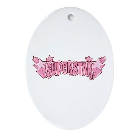SuperStar [pink] Oval Ornament