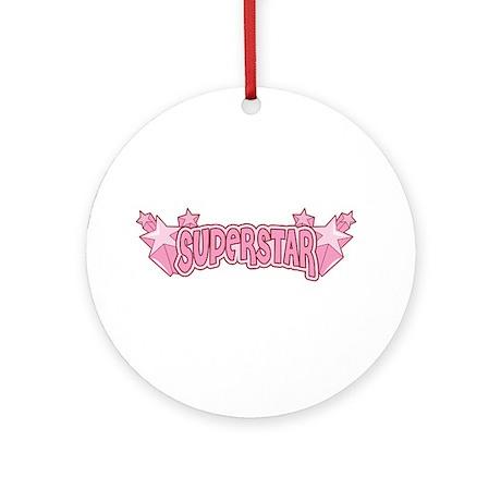 SuperStar [pink] Ornament (Round)