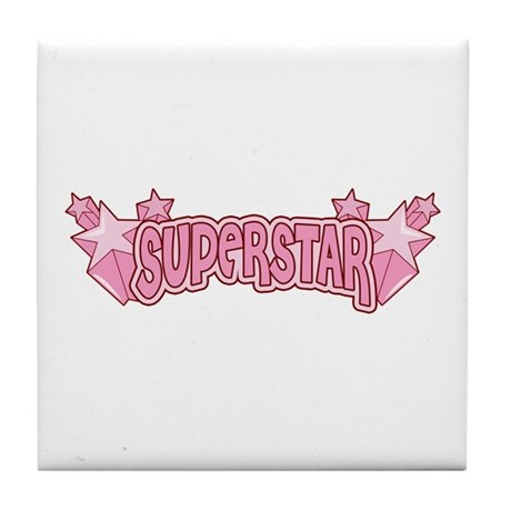 SuperStar [pink] Tile Coaster