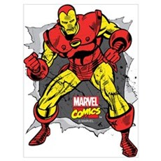 Iron Man Ripped Wall Art Poster