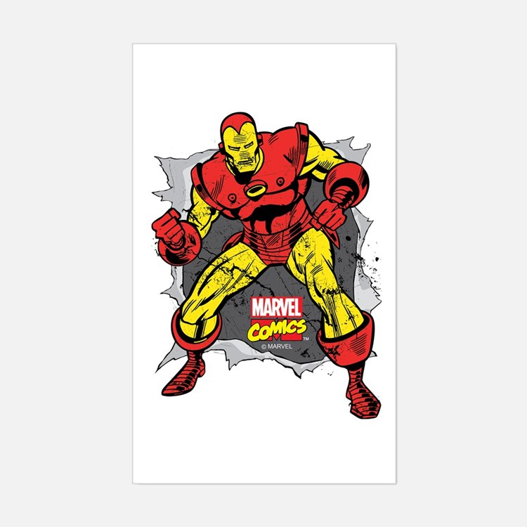 Iron Man Ripped Decal