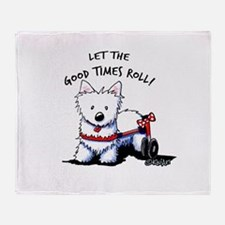 Good Times Westie Throw Blanket