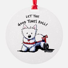 Good Times Westie Ornament