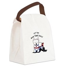 Good Times Westie Canvas Lunch Bag