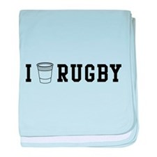 I drink rugby baby blanket
