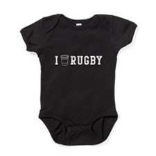 I drink rugby Baby Bodysuit