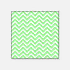 "mint green and white chevro Square Sticker 3"" x 3"""