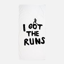 I got the runs Beach Towel