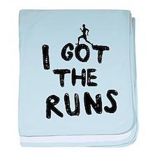 I got the runs baby blanket
