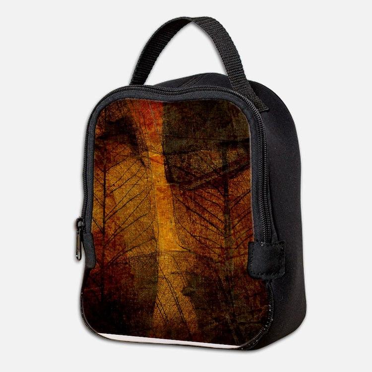 Cute Brown Neoprene Lunch Bag