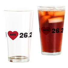 I love hate 26.2 running Drinking Glass