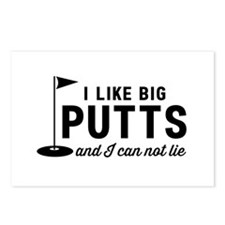 I like big putts can not lie Postcards (Package of