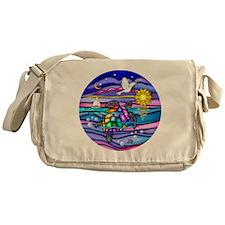 Funny Swimming Messenger Bag