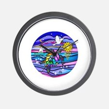Funny Colorful turtle Wall Clock