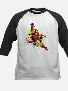 Iron Man Paint Splotch Kids Baseball Jersey