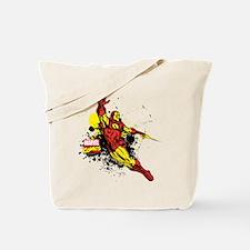 Iron Man Paint Splotch Tote Bag