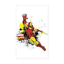 Iron Man Paint Splotch Decal