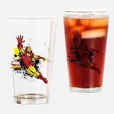 Iron Man Paint Splotch Drinking Glass