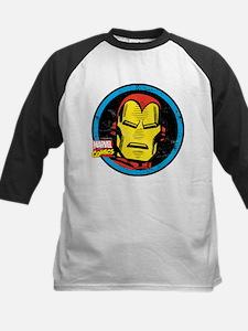 Iron Man Face Kids Baseball Jersey