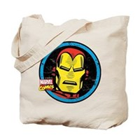 Iron Man Face Tote Bag