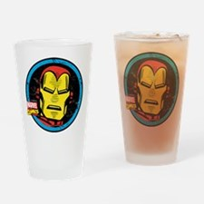 Iron Man Face Drinking Glass