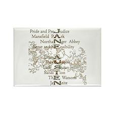 Jane Austen Books 5 Magnets