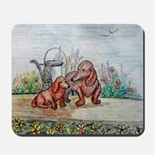 Dotsons and flowers Mousepad