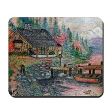 Cabin in the woods Mousepad