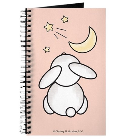 Bunny Wishing on Star Pink Journal Notebook Diary