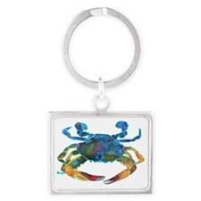 Cute Crabbing Landscape Keychain