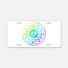 Peace Circle of 5ths Aluminum License Plate