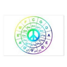 Peace Circle of 5ths Postcards (Package of 8)