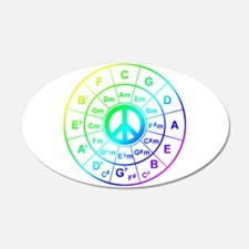 Peace Circle of 5ths Wall Decal