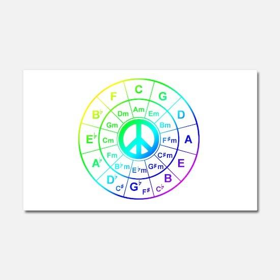 Peace Circle of 5ths Car Magnet 20 x 12