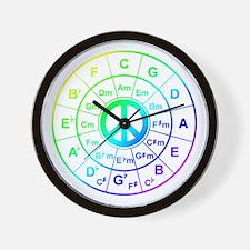 Peace Circle of 5ths Wall Clock