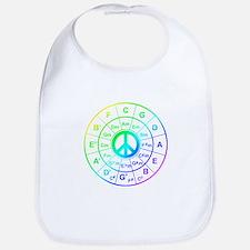 Peace Circle of 5ths Bib