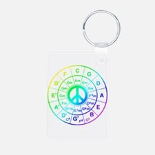 Peace Circle of 5ths Keychains