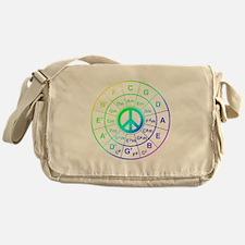 Peace Circle of 5ths Messenger Bag