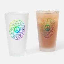 Peace Circle of 5ths Drinking Glass