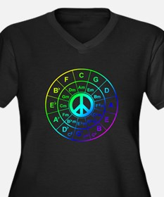 Peace Circle of 5ths Plus Size T-Shirt